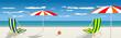 Summertime traveling template with beach summer vector illustrat