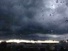 Summer Rainstorm With Ominous ...