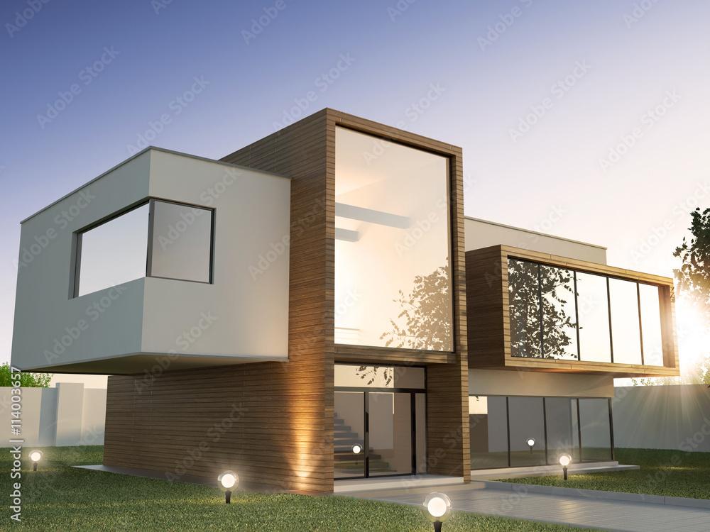 Fototapeta Modern House