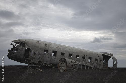 Foto relitto d'aereo