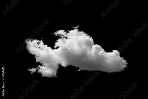 Canvas Prints Heaven Clouds on black background