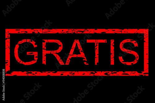 rubber stamp gratis free in indonesia language red at black