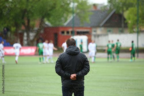Fotografie, Obraz  Footbal coach watching the match