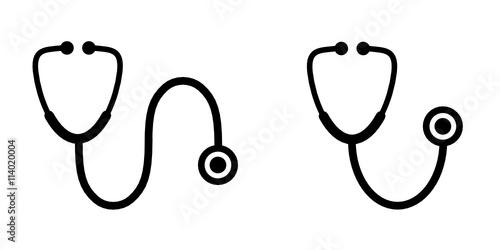Fototapeta stetoskop ikona obraz
