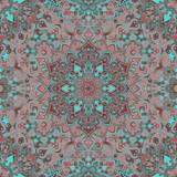 Boho Flower Pattern - 114022826