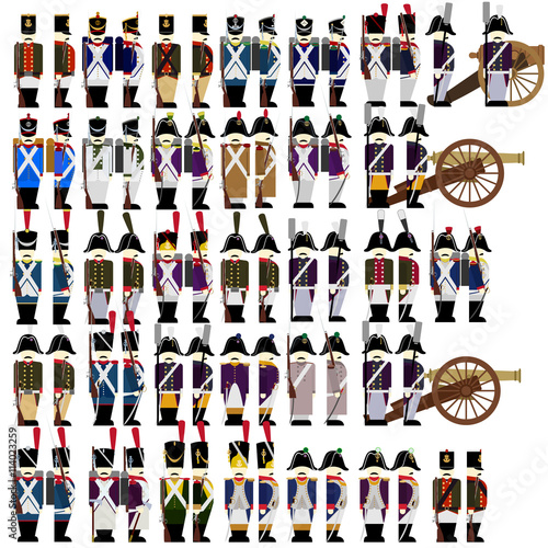 Fotografía  Military uniforms of the French army in 1812