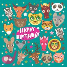 Happy Birthday Card Funny Anim...