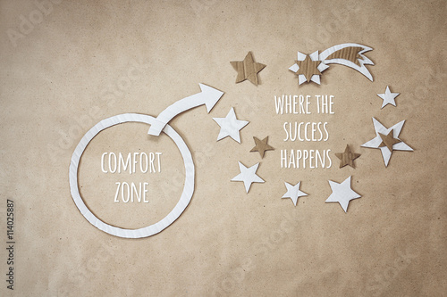 Fotomural  Inspirational quote and encouragement to leave your comfort zone