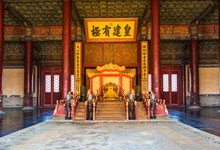 Chinese Emperor's Throne In Th...