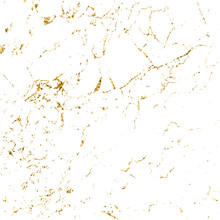 Marble Gold Grunge Texture. Patina Scratch Golden Elements. Sketch Surface To Create Distressed Effect. Overlay Distress Grain Graphic Design. Stylish Modern Background Decoration. Vector Illustration