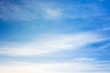 Blue sky with white cirrus clouds, texture