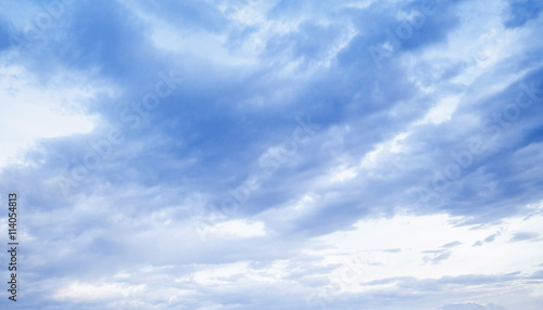 Canvas Prints Heaven Bright sky with blue clouds, natural background