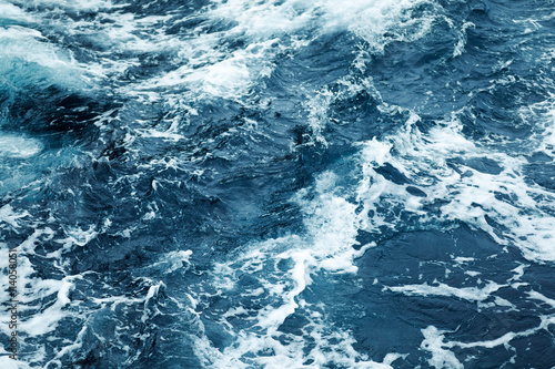 Stickers pour porte Rippled Ocean Water