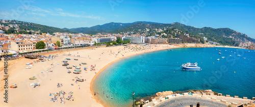Leinwand Poster Tossa de Mar beach. Costa Brava, Catalonia, Spain