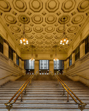 Grand Staircases Inside Union Station In Chicago, Illinois