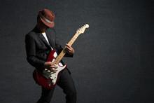 Music Concept, Guitarist In Dark