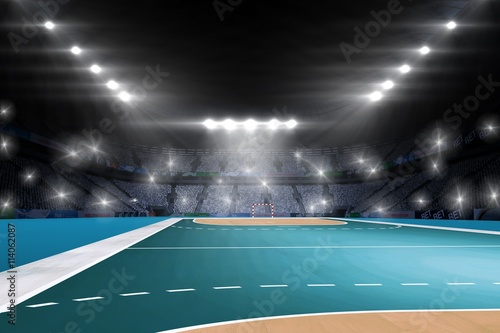 Composite image of handball field Fototapet