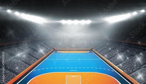 Fotografia Composite image of handball field