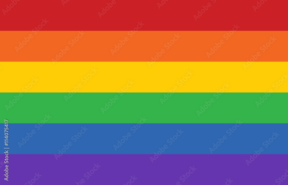 Fototapety, obrazy: Gay pride movement rainbow banner flag flat vector illustration for apps and websites