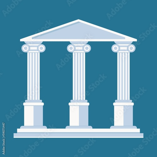 In de dag Bedehuis University or college building illustration. Cartoon flat vector illustration. Objects isolated on a background.