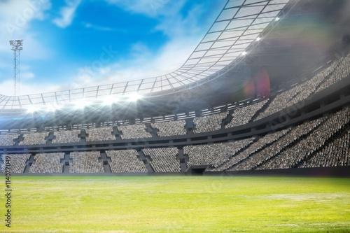 Aluminium Prints Stadion Composite image of a stadium