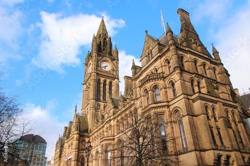 Photo  Manchester City Hall, UK
