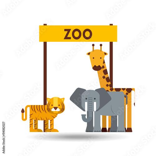 Plakat  Projektowanie zwierząt w zoo
