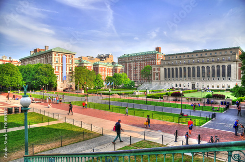 Fotografie, Obraz  Colorful HDR image of the Central Quadrangle and Butler Library in New York City