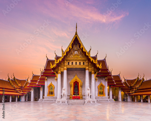 Printed kitchen splashbacks Place of worship The famous marble temple Benchamabophit from Bangkok, Thailand