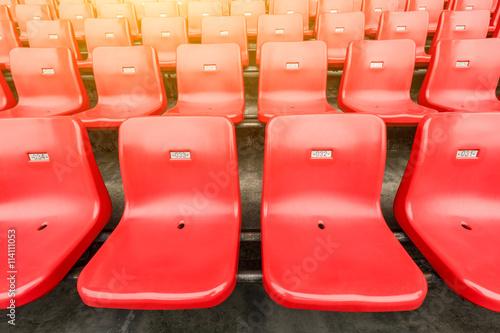 Fotobehang Stadion Empty seats in an open stadium