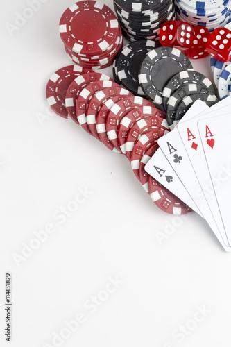 Leinwand Poster  Poker