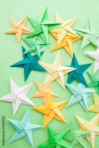 Bunte Origami Sterne Buy This Stock Photo And Explore