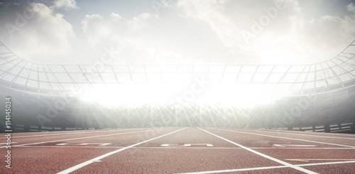 Foto auf Leinwand Stadion View of a stadium with tribune