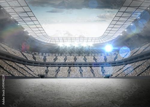 Foto op Plexiglas Stadion View of a stadium with tribune
