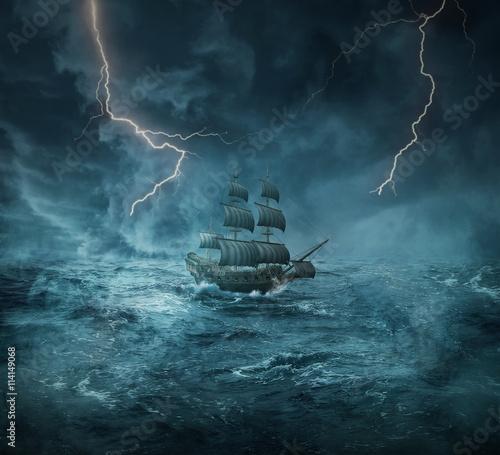 In de dag Schip ghost ship