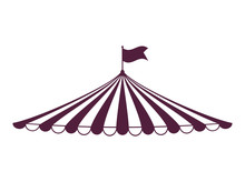 Tent Icon. Circus And Carnival Design. Vector Graphic