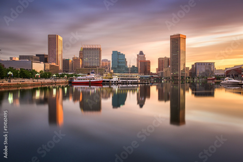 Photo  Baltimore Inner Harbor Skyline