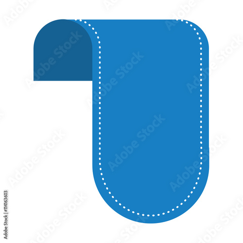 Garden Poster White label icon. blue tag design. Vector graphic