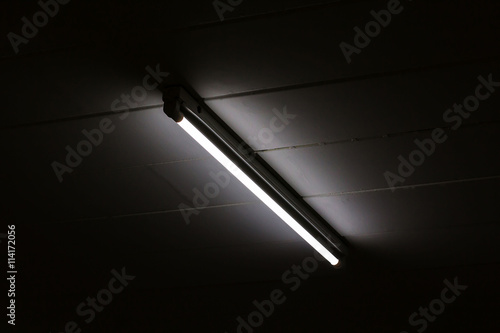Photo Detail of a fluorescent light tube