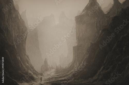 Obraz na plátně Údolí smrti
