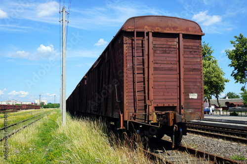 Fotografie, Obraz  Railway loading and unloading.