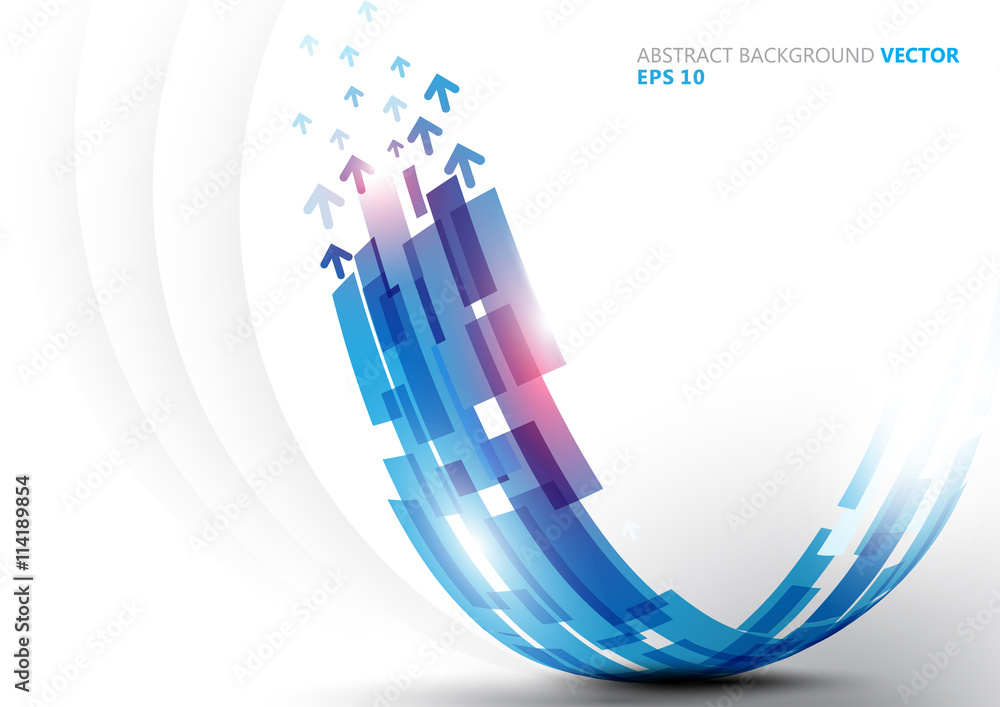 Abstract Blue Curve Line Shape Background Vector Design Foto