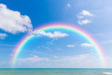 Fototapeta Tęcza - Rainbow and blue sky