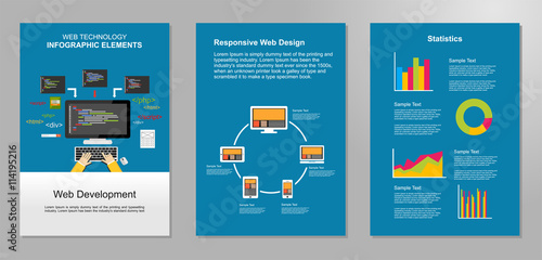 information technology infographic elements web development