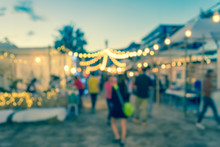 Blur Image Of Night Festival O...