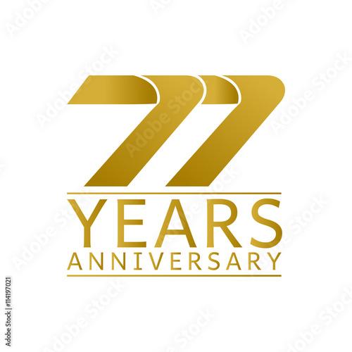 Fotografie, Obraz  Simple Gold Anniversary Logo Vector Year 99