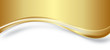 Wellen Welle Hintergrund Gold Band Banner