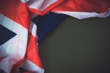 Flag Of United Kingdom On Gree...