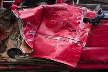 Old Red Door Car Was Demolished.