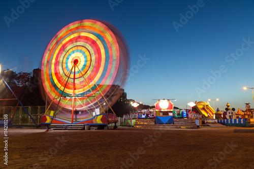 Poster Amusementspark Ferris wheel in the amusement park